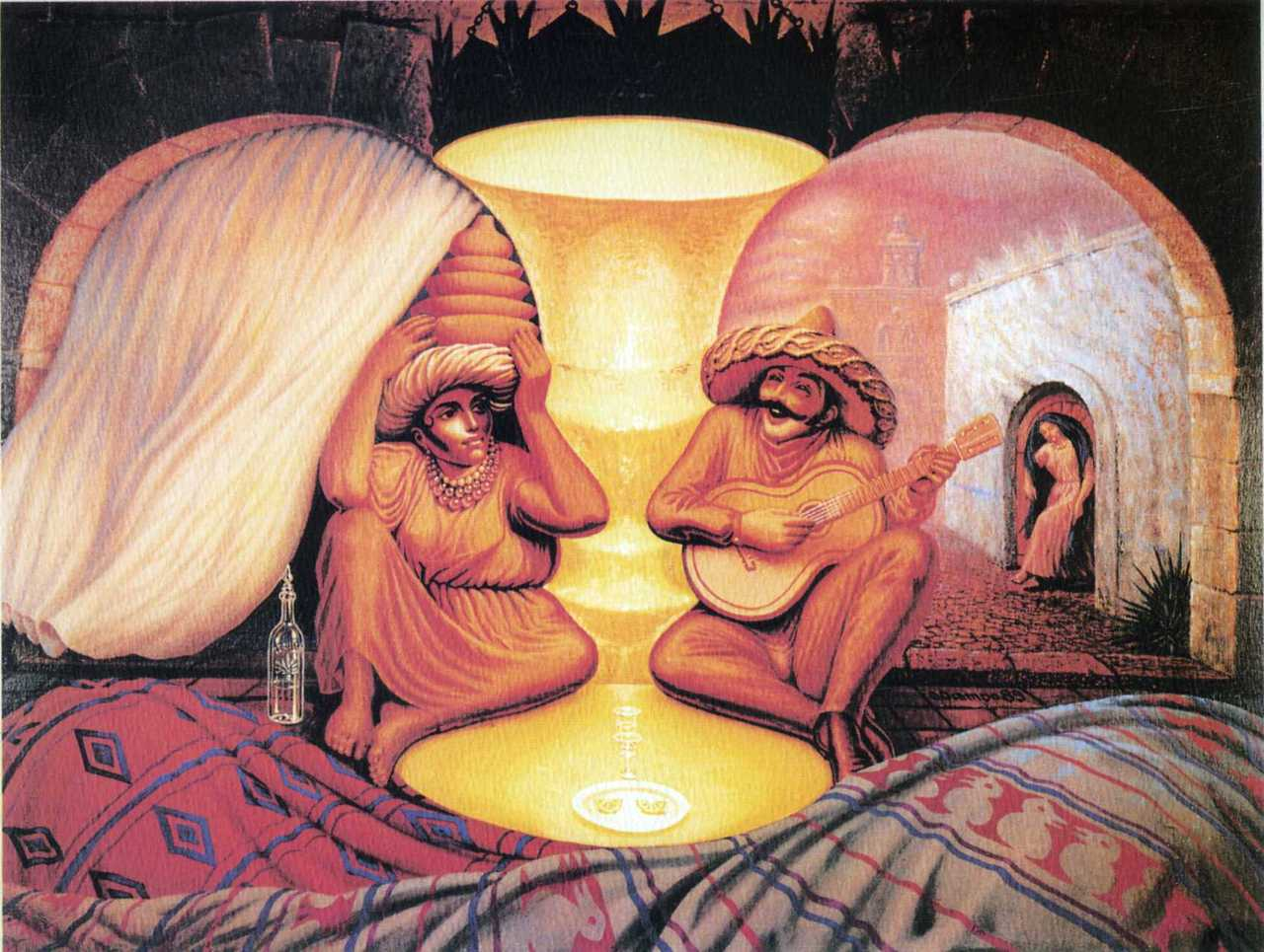 Dali Old couple or musician